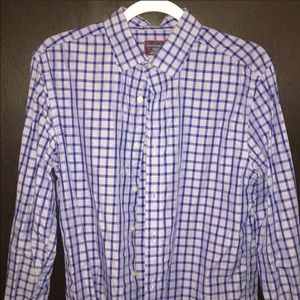 Blue gingham print UNTUCKit shirt
